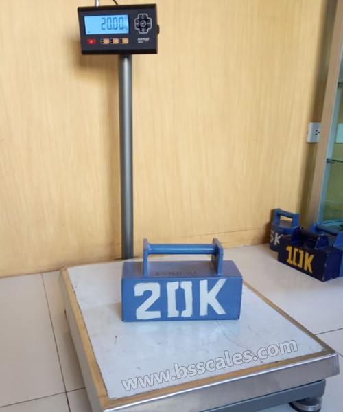 Balanza electrónica de pedestal